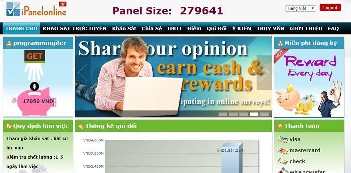 ipanel - top trang khảo sát kiếm tiền nhiều nhất