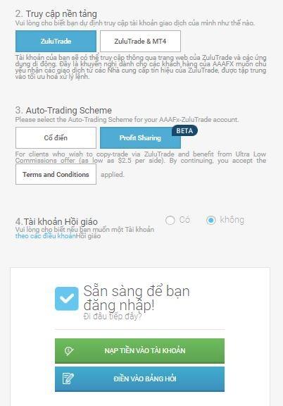 Thông tin tài khoản giao dịch AAAFx 2