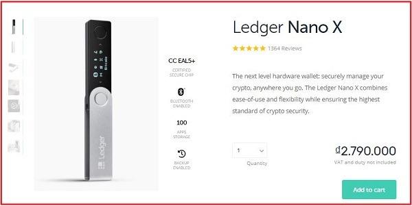 ví ledger nano x - ví tiền điện tử tốt nhất