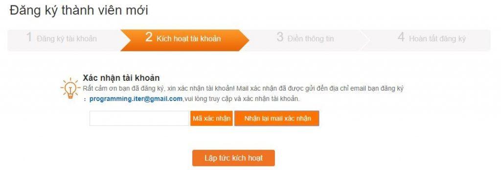 Xác nhận email tài khoản Viewfruit
