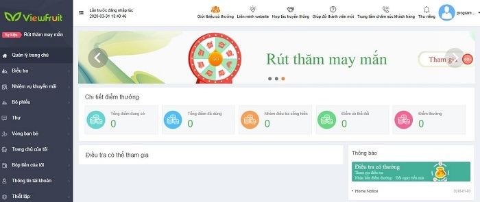 viewfruit - top trang khảo sát kiếm tiền nhiều nhất