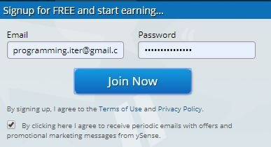 Điền email và mật khẩu đăng ký - top trang khảo sát kiếm tiền nhiều nhất
