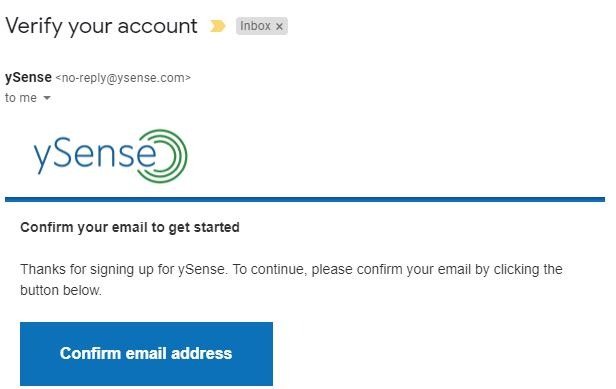 Truy cập vào email và ấn Confirm email address để xác thực
