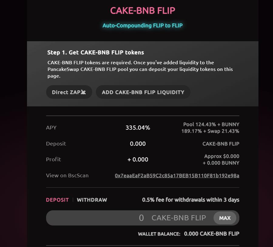Token CAKE-BNB FLIP